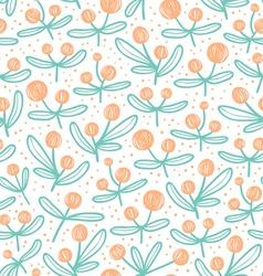 Blossom doodle pattern vector image