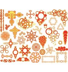 circle elements vector image vector image