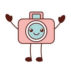 Kawaii graphic design camera studio cartoon vector