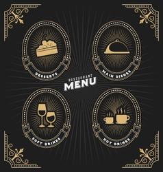 Luxury vintage frame and label for restaurant menu vector