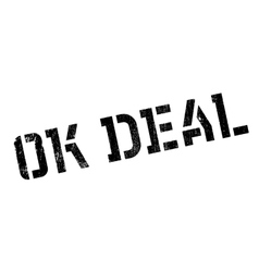 Ok Deal rubber stamp vector image vector image