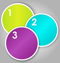 Set 3 of numbered round stickers vector image