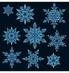 snowfalls vector image vector image