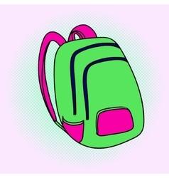 School bag Pop art vector image vector image