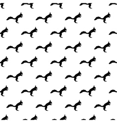 Squirrel pattern seamless vector image