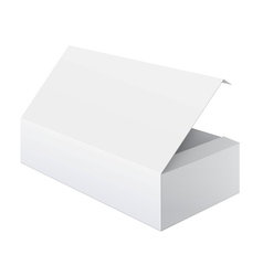 White blank Package Box Opened For electronic vector image