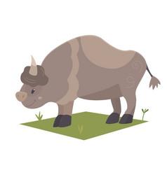 cartoon bison vector image