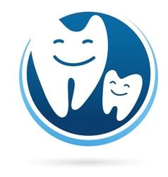 dental clinic icon - smile teeth vector image