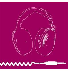 Headphones Outline Design vector image vector image