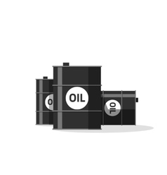 Oil barrels isolated on white vector image