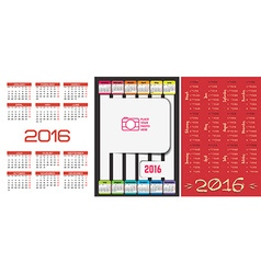 3 calendar template in 1 vector image