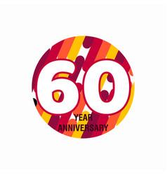 60 year anniversary purple template design vector