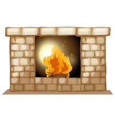 A fireplace vector image