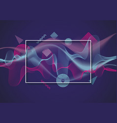 abstract background from transparent waves with vector image