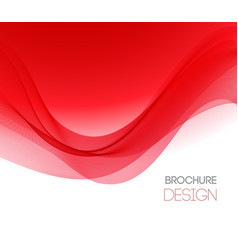 Abstract background with red smooth color vector