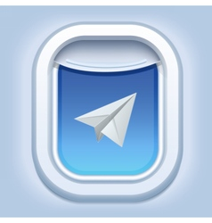 AirplaneWindowPaperPlane vector