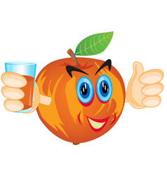 Alive apple with juice vector