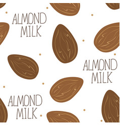 Almond milk - set of design elements and vector