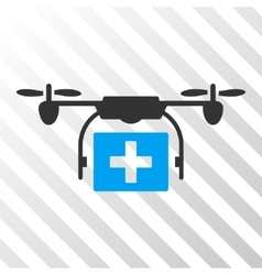 Ambulance Drone Eps Icon vector