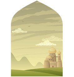 arabian background vertical vector image