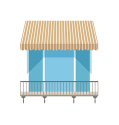 Balcony with shutters awning vector