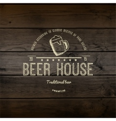 Beer house badges logos and labels for any use vector