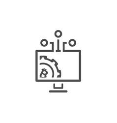 bitcoin mining pool icon vector image