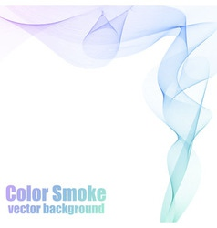 Blue and violet smoke vector image vector image