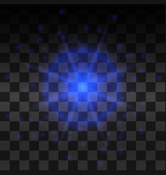 blue glow light effect vector image