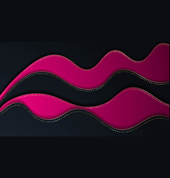 bright paper cut background with waves layers vector image