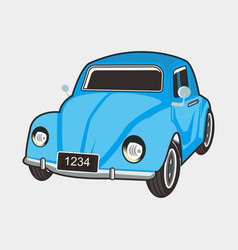 Car classic beetle vector