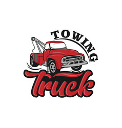 Car tow truck emblems labels and design vector