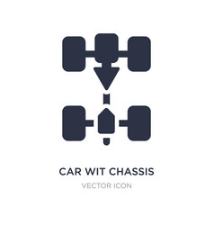 Car wit chassis icon on white background simple vector