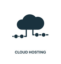 cloud hosting icon monochrome style design from vector image