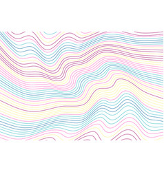 Color wavy background vector