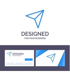 creative business card and logo template arrow vector image