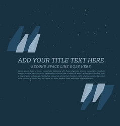 dark poster with space to add your text vector image