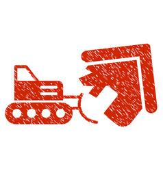 Demolition grunge icon vector