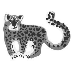 design with a a cute and friendly leopard vector image