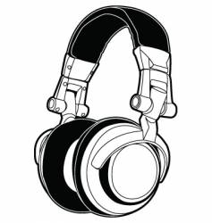 dj headphones vector image