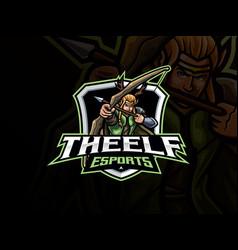 Elf mascot sport logo design vector
