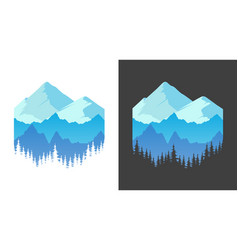 Emblem with mountains banner for t-shirt prints vector