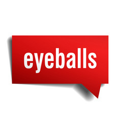 eyeballs red 3d speech bubble vector image