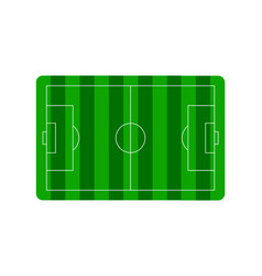 Football soccer field plan vector