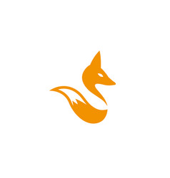 Fox head and tail wolf for logo design vector