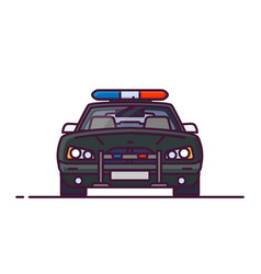 Front view of police car vector