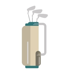 golf clubs bag equipment isolated icon vector image