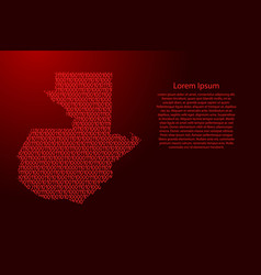 guatemala map abstract schematic from red ones vector image