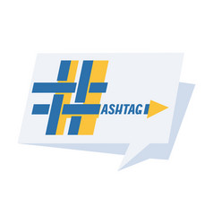hashtag sign with inscription vector image