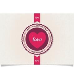 Heraldry labels design for valentines day vector image